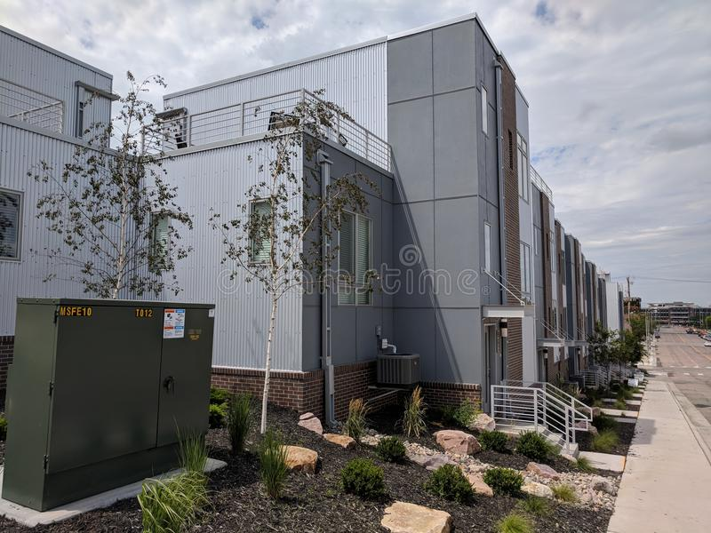 South Dakota Housing Complex. New housing on 1st Avenue in Sioux Falls, SD stock photo