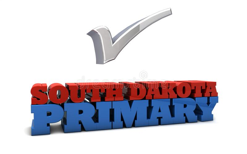 South Dakota Primary illustrazione di stock