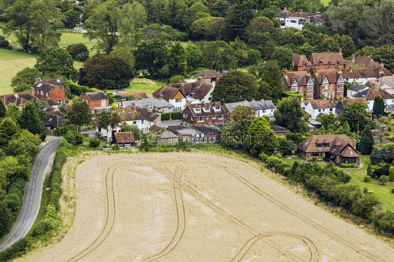 Download South downs stock image. Image of houses, cottage, community - 26396163
