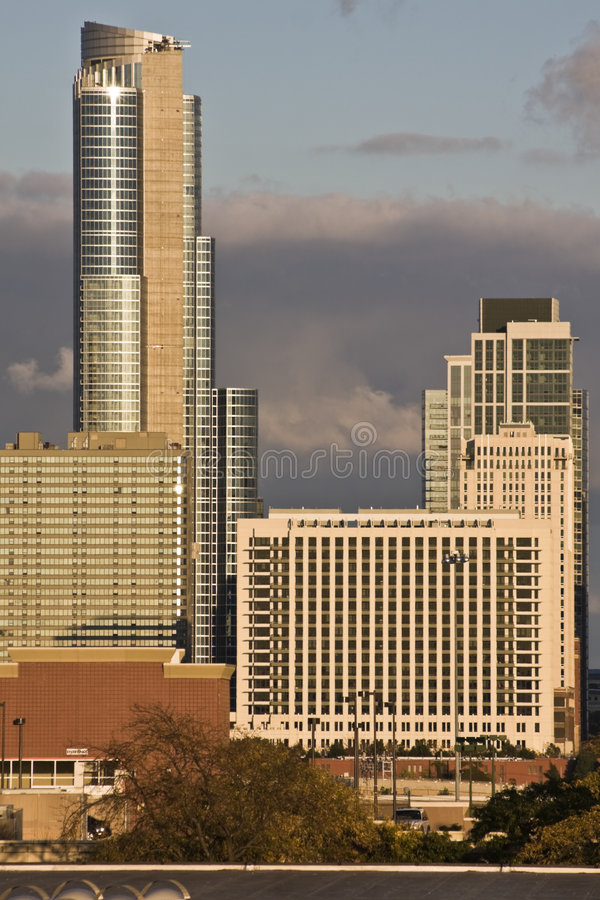 Download South Downtown in Chicago stock image. Image of hancock - 8501923
