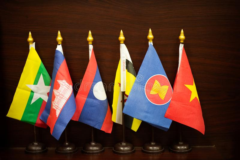South east asian flag community royalty free stock image