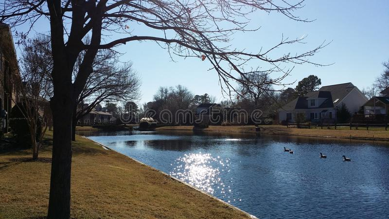 South End Southall Pond royalty free stock image