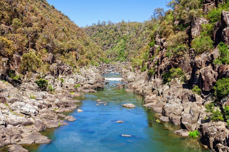 South Esk River - Launceston. South Esk River above the First Basin in Cataract Gorge - Launceston, Tasmania, Australia royalty free stock image