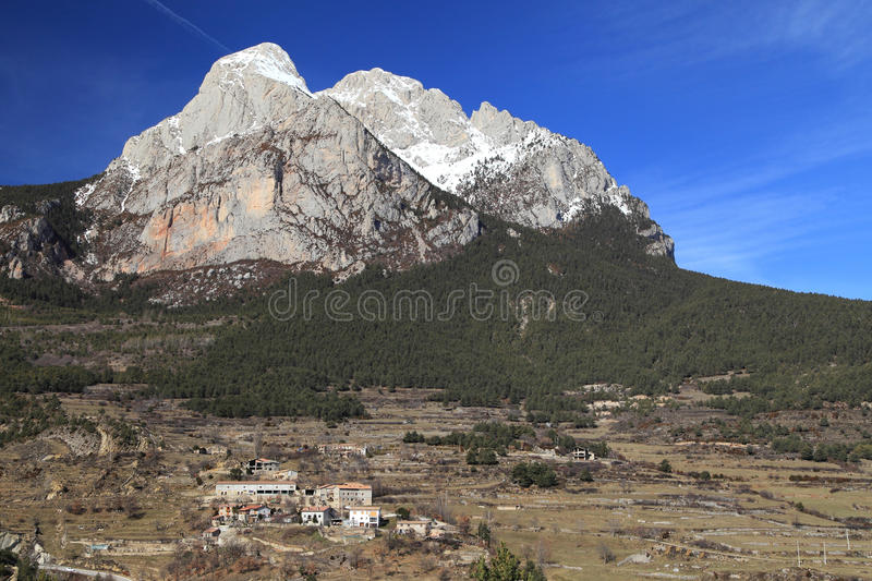 South face of the Pedraforca royalty free stock photography
