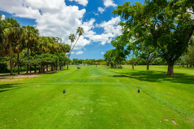 South Florida Golf Course. Landscape viewed from the tee box stock image