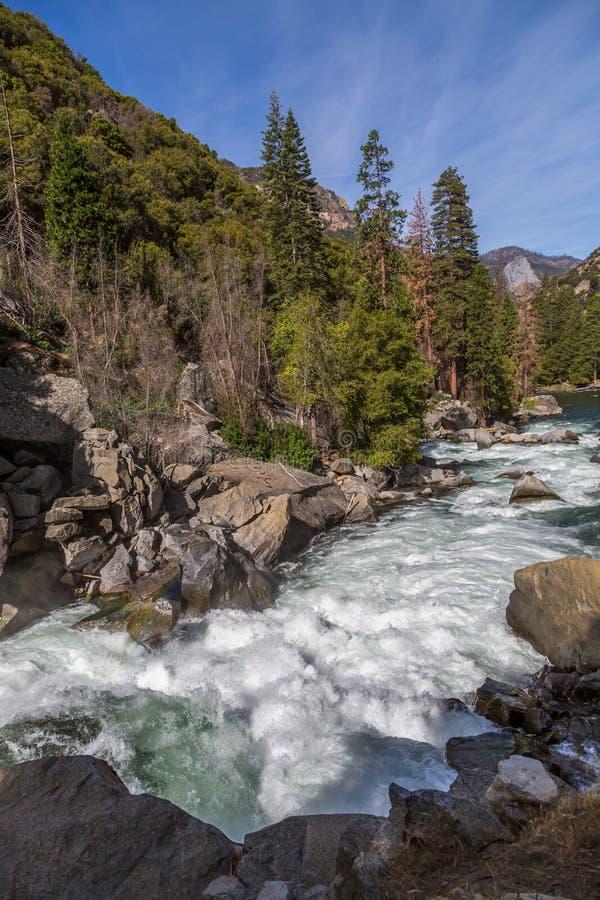 South Fork Kings river at Kings Canyon CA royalty free stock images
