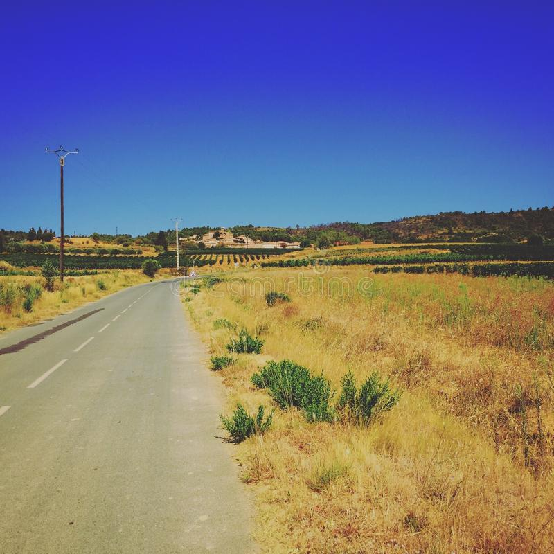 South of France. Montouliers open road stock images