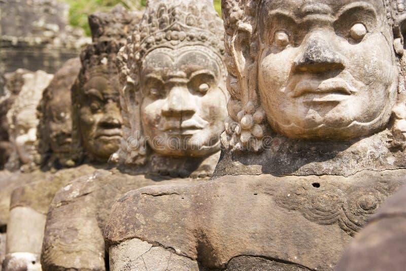 South Gate, Angkor Thom, Cambodia stock photos