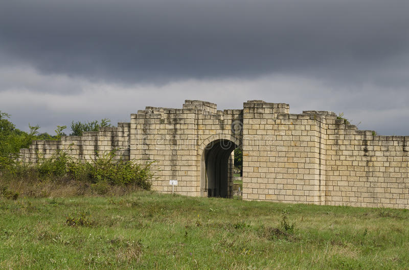 The South Gate of Veliki Preslav fortress royalty free stock image