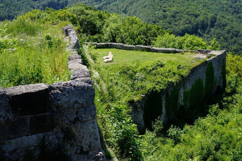 Scenery of old castle ruin swabian alb. South german travel destinations scenery of old castle ruin swabian alb royalty free stock photography