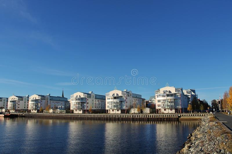 South Harbour in Luleå stock photography