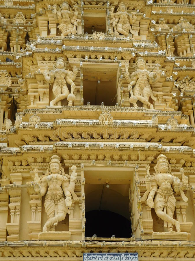 South india travel. Madurai temple.architecture of south. minakshi temple gopuram pick of the temple royalty free stock photos