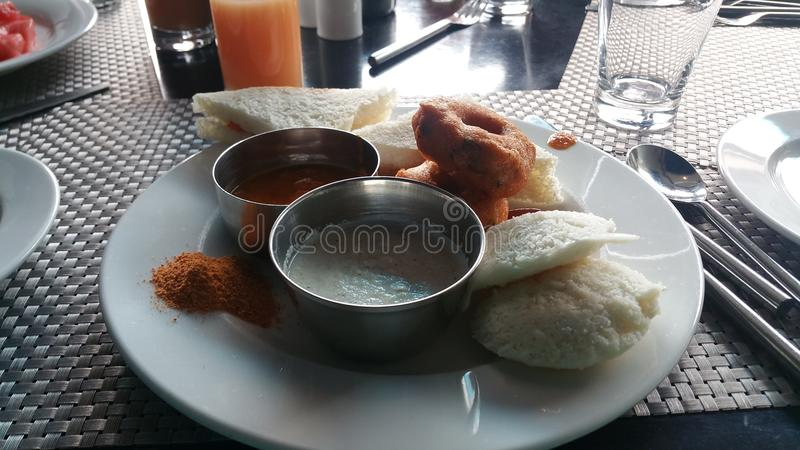South Indian breakfast. Close up of South Indian breakfast stock image