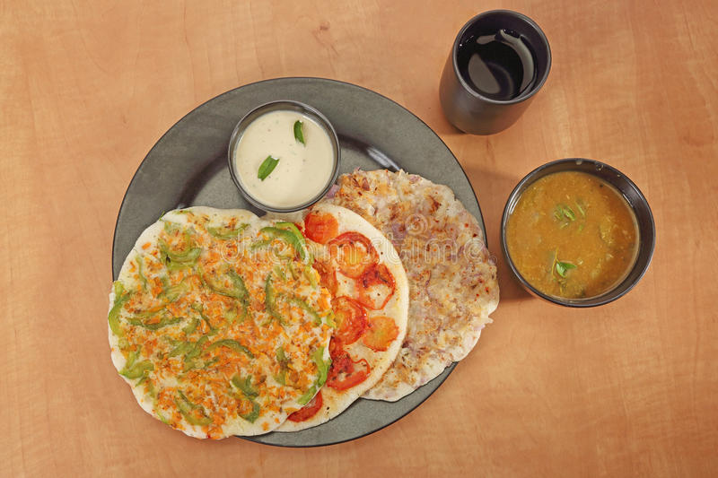 South Indian Dish Uthappams royalty free stock image
