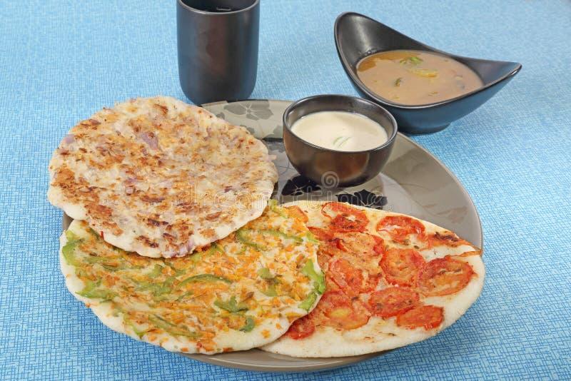 South Indian Dish Uthappams stock image
