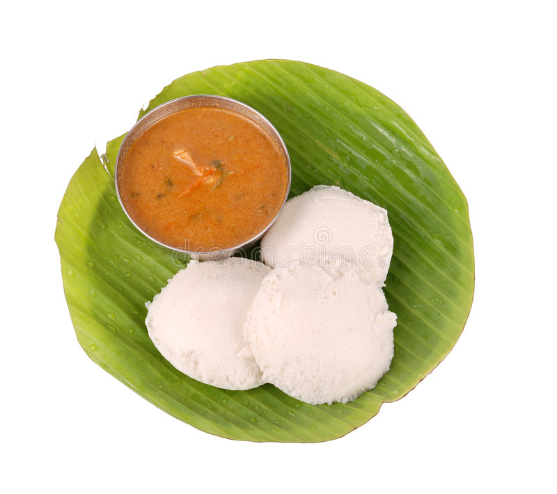 South indian food. Idly with side dish on isolated background stock photos