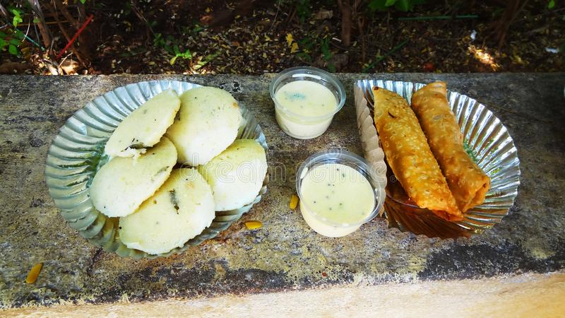 South Indian food idli vada royalty free stock photography