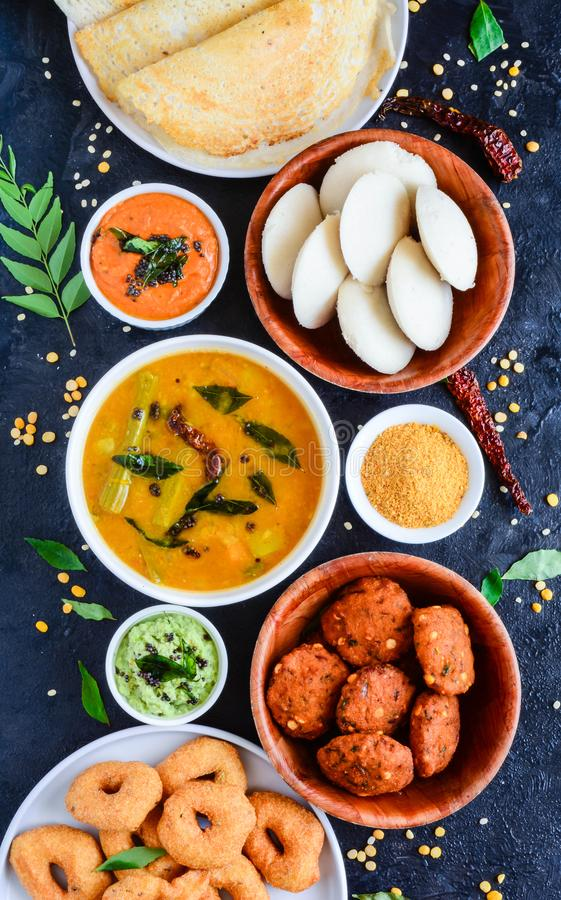 South Indian Food Platter stock images