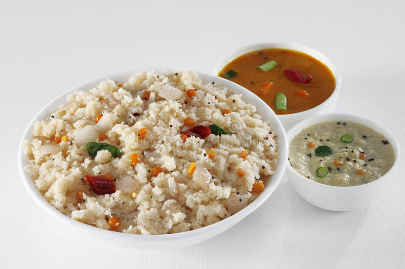 South Indian food. SOUTH INDIAN SPECIAL BREAKFAST UPMA royalty free stock photos