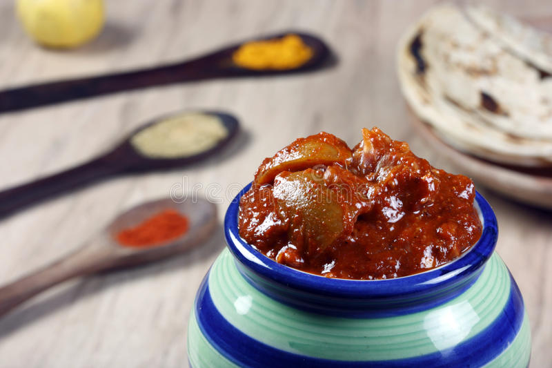 South Indian Lemon Pickle is a spicy tangy pickle royalty free stock photography