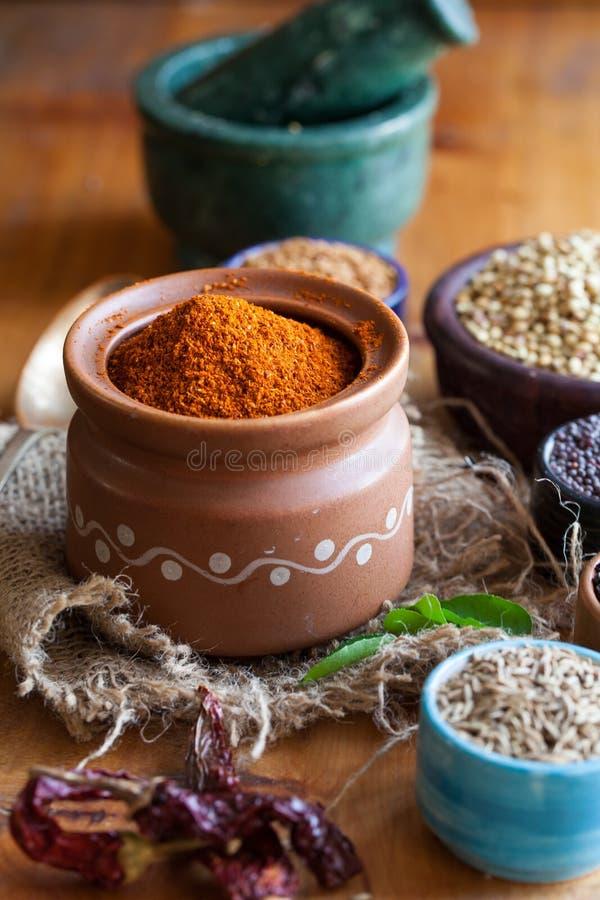 South Indian Rasam powder stock photo