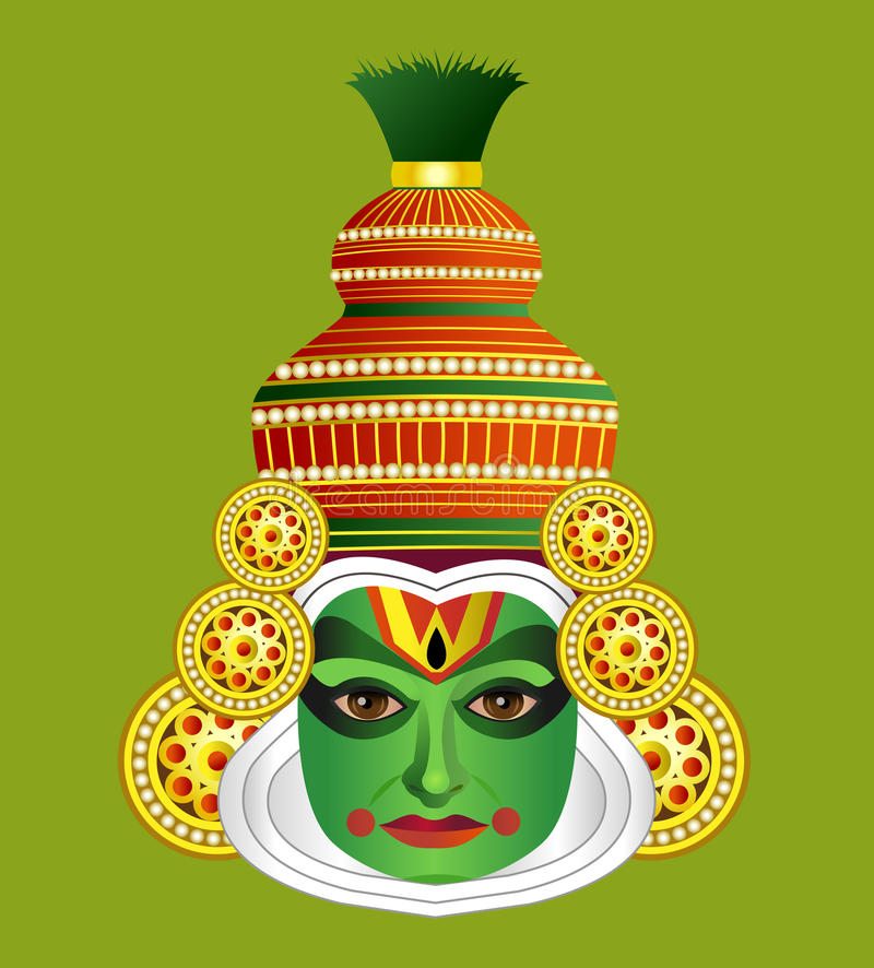 Download South Indian Traditional Kathakali Dancer Stock Vector - Image: 26037232