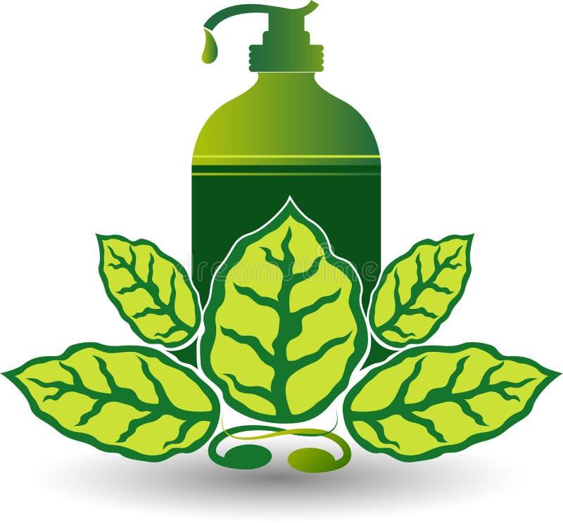 Eco hand wash logo royalty free illustration