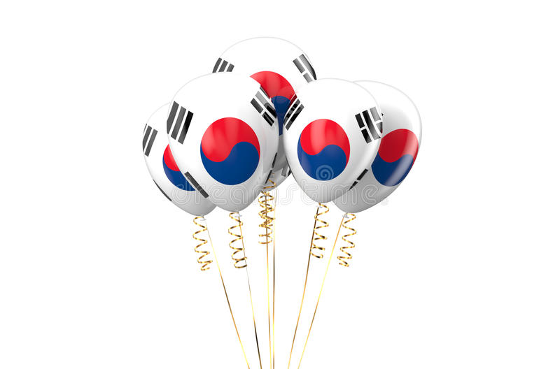 South Korea patriotic balloons, holyday concept. Isolated on white background royalty free illustration
