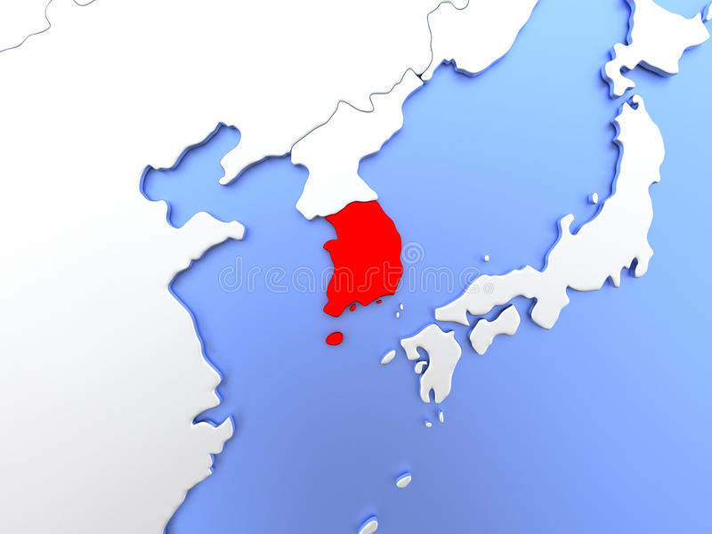 South korea in red on map stock illustration illustration of download south korea in red on map stock illustration illustration of metallic 86624349 gumiabroncs Gallery
