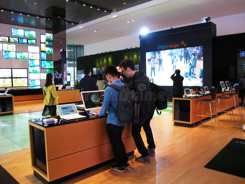 Download South Korea's Samsung Merchandise Display Editorial Stock Image - Image: 35060309