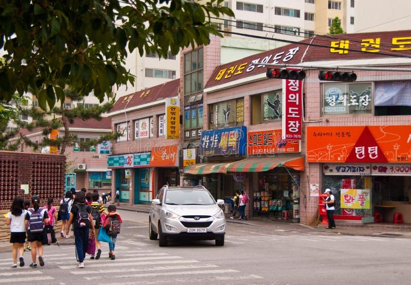 South Korea urban setting of Iksan town royalty free stock photos
