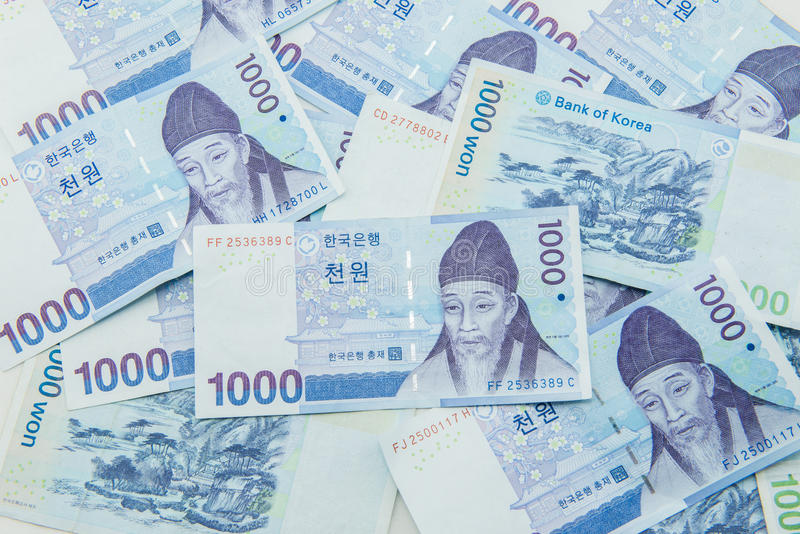 South Korean Won currency. Finance royalty free stock photography