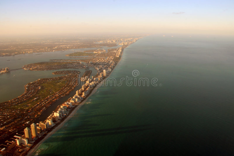 Aerial Miami View Stock Photography