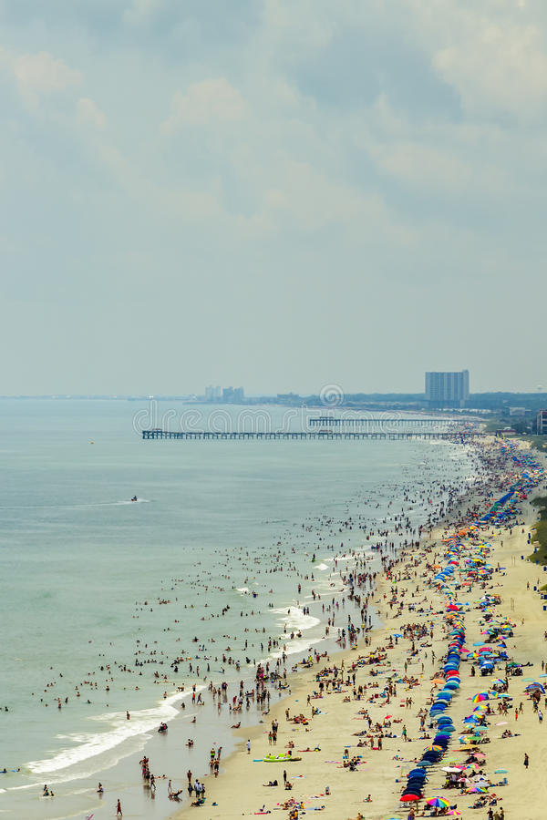 South Myrtle Beach. South Carolina, is a popular vacation destination on the East Coast stock image