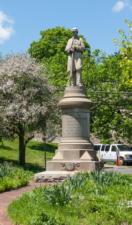 South Norwalk wojny domowej pomnik zdjęcie royalty free