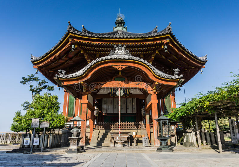 The South Octagonal Hall at Kofuku-ji Temple, Nara. Nan'en-dō or the South Octagonal Hall of Kofuku Temple in Nara was built in 1741 and is a designated stock photos