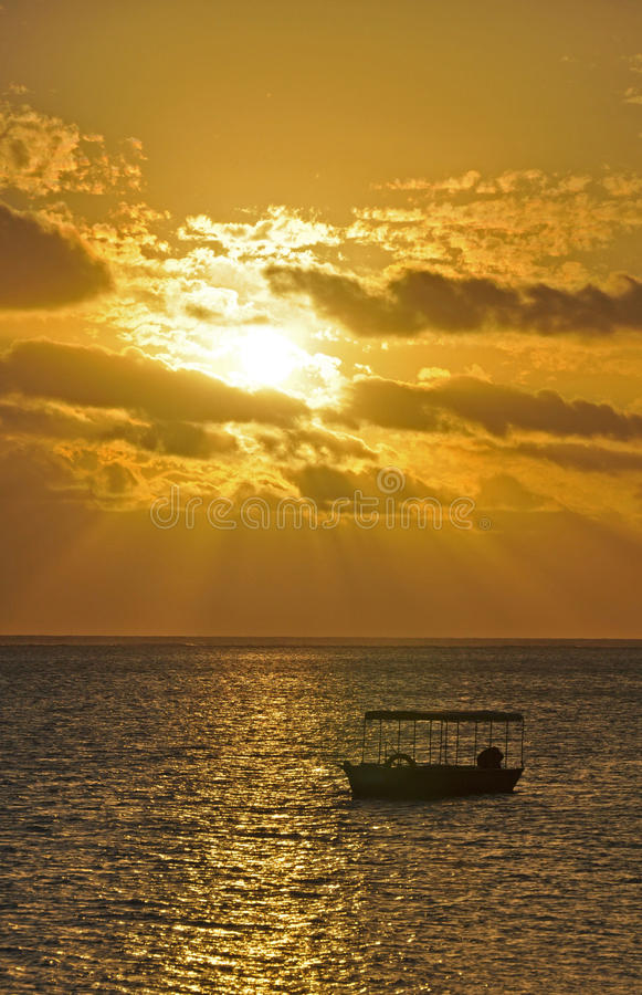 Free South Pacific Sunset Royalty Free Stock Image - 48841296
