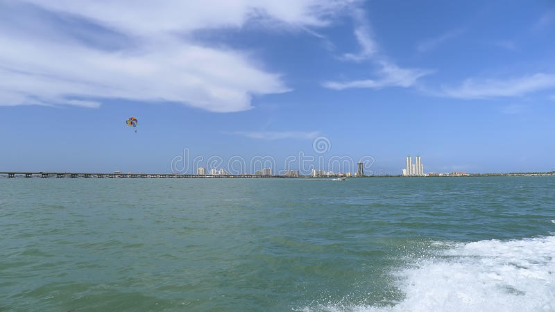 Download South Padre Island And Parasail Stock Photo - Image: 26118082