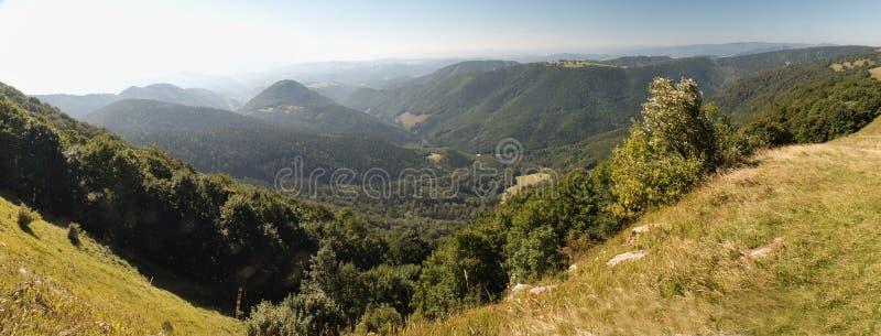 South panorama view from Hadlanka saddle in Nizke Tatry Mountains stock photos