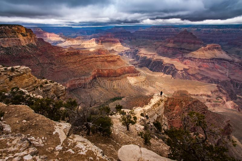 South Rim, Grand Canyon National Park, Arizona, USA. Storm gethering over the manificient canyon, South Rim, Grand Canyon National Park, Arizona, USA stock photography