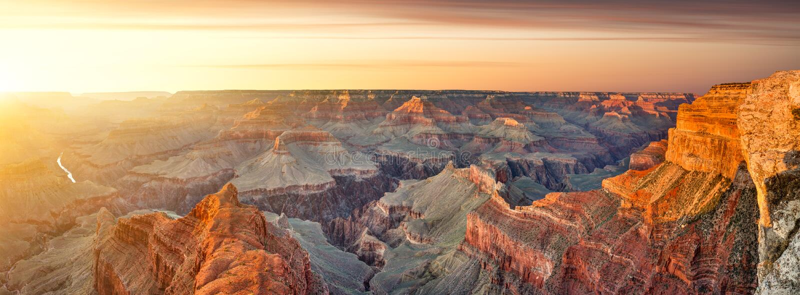 South Rim Grand Canyon at Sunset stock image