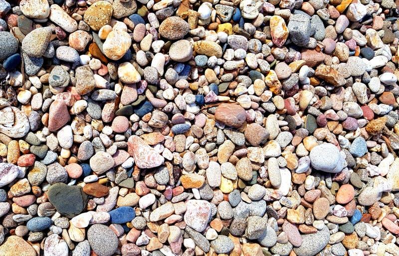 South Sardinia, stones on the beach stock photo