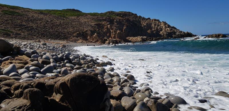 South Sardinia, rocks on the beach royalty free stock photos