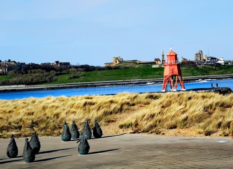 South Shields-Leiste stockfotos