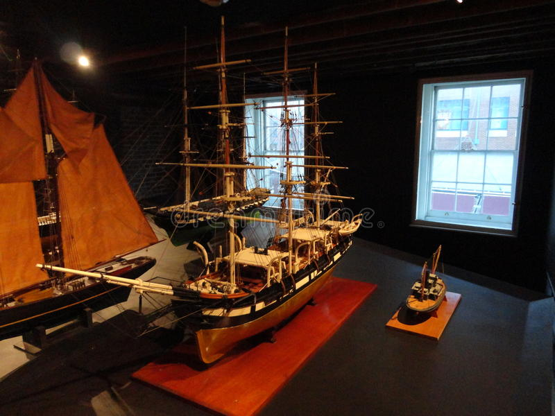 The South Street Seaport Museum 136. South Street Seaport Museum is a cultural institution dedicated to telling the story of the rise of New York as a port city royalty free stock image