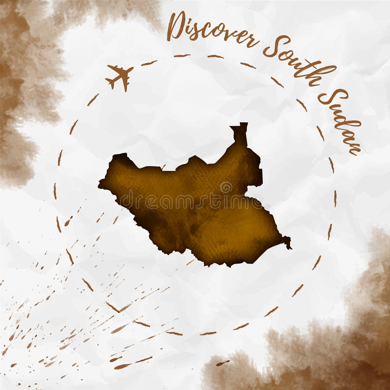 South sudan watercolor map in sepia colors stock vector download south sudan watercolor map in sepia colors stock vector illustration of bright gumiabroncs Image collections