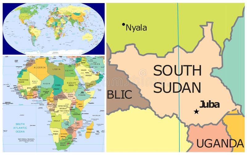 South Sudan & World stock illustration. Illustration of argentina ...