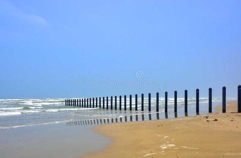 South Texas Seaside View royalty free stock photography
