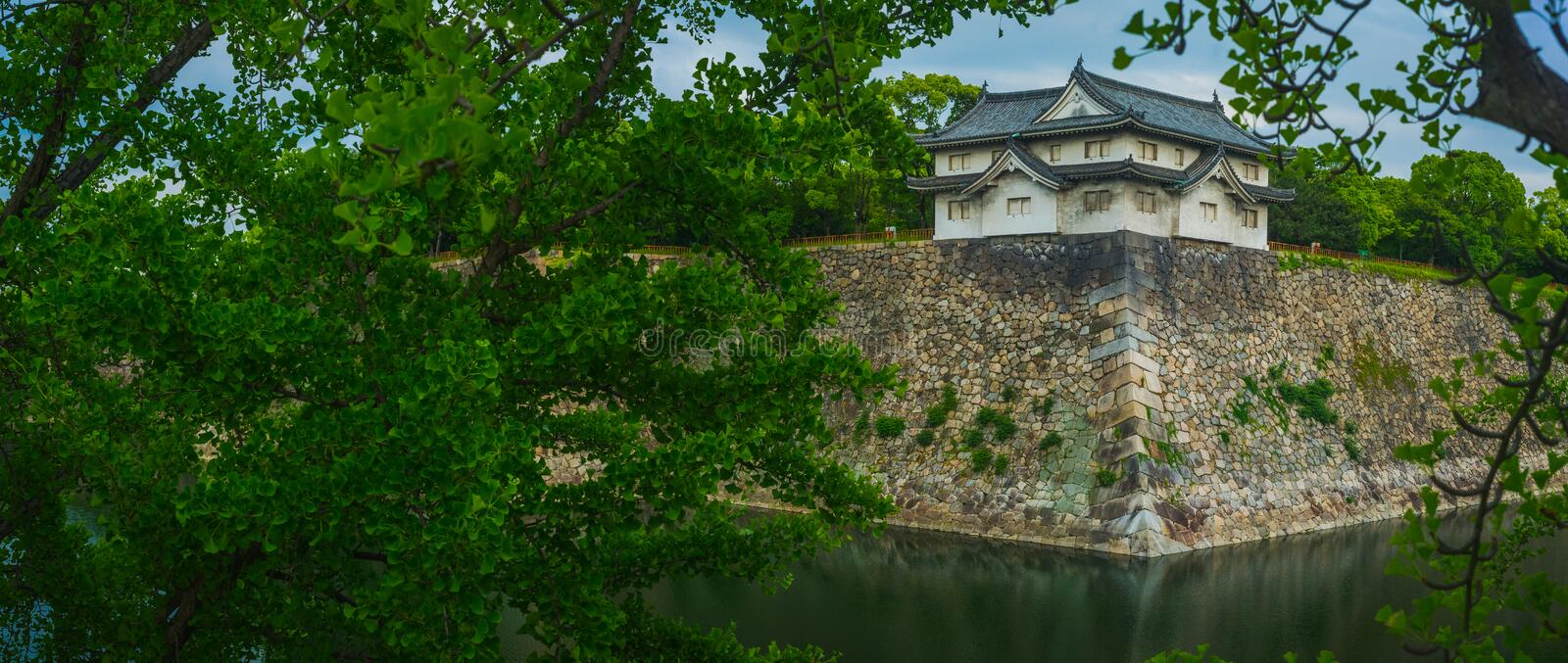 South Tower of Osaka Castle. South Tower of the Osaka Castle Park stock photography