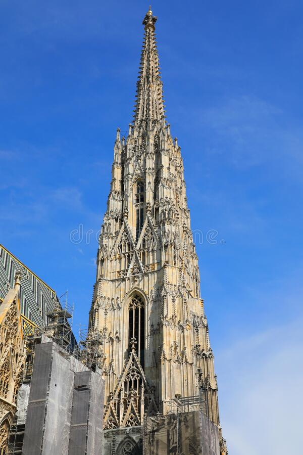 South Tower of St Stephen's Cathedral Stephansdom, Wien Wien, Österrike Österreich royaltyfria bilder
